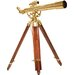28 Power, 70060 Brass Refractor Telescope, Anchormaster with Mahogany Floor Tripod