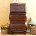 Fairway Carved Drop Front File Desk in Walnut