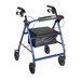 Drive Medical Fold Up and Removable Back Support Rolling Walker