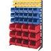 Quantum Storage Single Sided 16-Rail Hanging System Plastic Bins