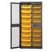 Mesh Safe-View Storage Cabinet with Ultra Size Bins