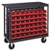 "Quantum Storage 36"" Ergonomic Rail Cart"
