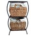 Pangaea Home and Garden Seagrass Rattan 2 Drawer Basket Storage Cabinet