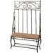 <strong>Classic Metal Hall Tree Bench</strong> by StyleCraft