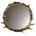 <strong>Rustic Fau Stag Horn Wall Mirror</strong> by Uttermost