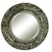 Alita Round Beveled Mirror with Black Woven Metal Details