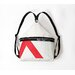 Sardinia Sack Backpack in White Sailcloth with Red Number