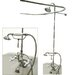 Elements of Design Vintage Volume Control Tub and Shower Faucets with Porcelain Cross Handles