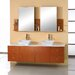 Ultra Modern Clarissa 61&quot; Double Bathroom Vanity Set with Stone Top in Honey Oak