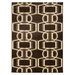 Roma Bridle Chocolate/Beige Rug by Linon Rugs