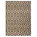 <strong>Roma Zigzag Ivory/Chocolate Rug</strong> by Linon Rugs