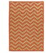 <strong>Innovations Reversible Rust Chevron Outdoor Rug</strong> by Linon Rugs