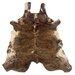 Linon Rugs Natural Cowhide Full Skin Medium Brindle Area Rug