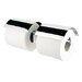Geesa by Nameeks Nexx Wall Mounted Double Toilet Paper Holder with Cover