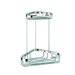 <strong>Basket Double Small Corner Shower Basket in Chrome</strong> by Geesa by Nameeks