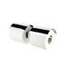 Nexx Double Toilet Paper Holder with Cover in Chrome
