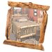 <strong>Traditional Cedar Log Wall Mirror</strong> by Fireside Lodge