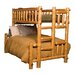 <strong>Fireside Lodge</strong> Traditional Cedar Log Bunk Bed with Built-In Ladder