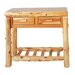 <strong>Traditional Cedar Log Two Drawers Console Table</strong> by Fireside Lodge