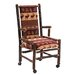 <strong>Fireside Lodge</strong> Hickory Executive Fabric Arm Chair