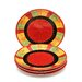 "<strong>Certified International</strong> Caliente by Joy Hall 10.75"" Dinner Plate (Set of 4)"