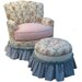 Angel Song Blossoms and Bows Princess Ottoman