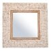 New Hampton Square Mirror in White Wash