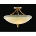 Parc Royale 3 Light Semi Flush Mount