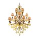 Venetian 16 Light Chandelier with Glass