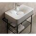 Scarabeo by Nameeks Fuji Ceramic Wall Mounted Vessel Bathroom Sink