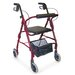 Adjustable Seat Height Aluminum Rollator