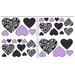 Sweet Jojo Designs Kaylee Heart Wall Decal 4 piece set