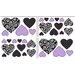 Sweet Jojo Designs Kaylee Heart Wall Decal 4 piece set