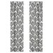 Sweet Jojo Designs Isabella Damask Black and White Curtain Panel