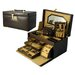 Croco Grain Jewelry Boxes Small Croco Calf Treasure Chest in Brown
