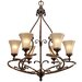 <strong>Loretto 6 Light Chandelier</strong> by Golden Lighting
