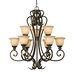 Golden Lighting Heartwood 9 Light Chandelier
