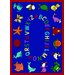 <strong>Joy Carpets</strong> Educational ABC Animals Bold Design Kids Rug