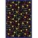 Joy Carpets Whimsy Streamers and Stars Novelty Area Rug