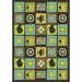 Just for Kids Wired Teal Kids Rug
