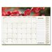 Panoramic Floral Monthly Desk Pad Calendar, 22 x 17, 2013