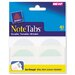 NoteTabs-Notes, Tabs &amp; Flags in One, Taupe/White, 2&quot;, 40/Pack