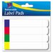 Removable Label Pads, 2/3 x 3 7/16, White w/Assorted Color Bars, 160/Pack