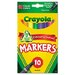 <strong>Crayola LLC</strong> Non-Washable Markers, Fine Point, Classic Colors, 10/Set