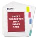 Poly Sheet Protectors with Index Tabs (5/Set)