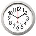 Quartz Flat Rim Clock, 13-1/4in, Silver, 1 AA Battery                                                                        