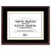 Hardwood Document/Certificate Frame with Mat, 11 X 14