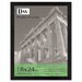 Black Plastic Poster Frame with Plexiglas Window, Wide Profile, 18 x 24