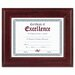 "Executive Document/Photo Wood Frame, Desk/Wall Mount, 8.5"" x 11"""