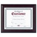 Prestige Document Frame, Walnut/Black, Gold Accents, Certificate, 8 1/2 x 11""